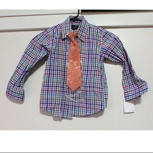 Button down top size 5 with Tie NEW